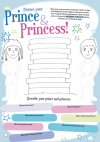 The Princess and The Pea Colouring Exercise