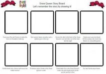 Snow Queen Story Board